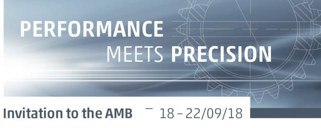Invitation to the AMB 2018 I Performance meets Precision