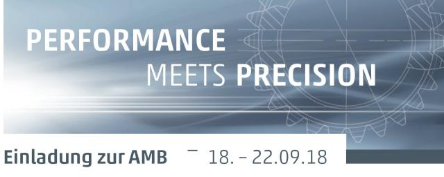 Einladung zur AMB 2018 I Performance meets Precision