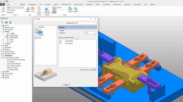 Autodesk PowerMill 2019.1 mit erweitertem Setup