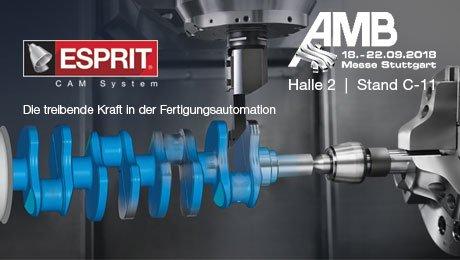 ESPRIT CAM auf der AMB 2018: dem Herzen der Metallbearbeitung