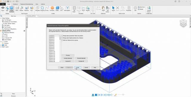 Geführte Automatische Feature-Erkennung in Autodesk FeatureCAM 2019