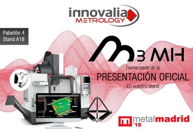 Innovalia Metrology muestra la experiencia M3 con sus soluciones metrologicas en Metalmadrid.