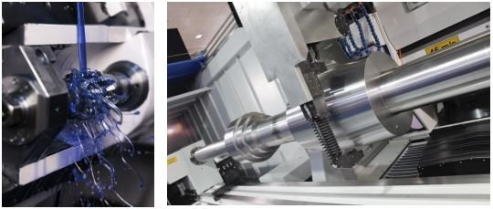 Lubrication by INTZA for machine tools: Non-Stop machining