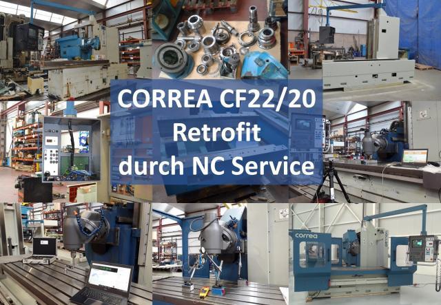 CF22 / 20 Correa Fräsmaschine: Retrofit durch Nicolás Correa Service