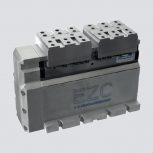 Electromechanical self-centering clamping vise EZC