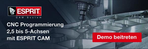 Mehr über ,5 bis 5-Achsen CNC Programmierung mit ESPRIT CAM lernen