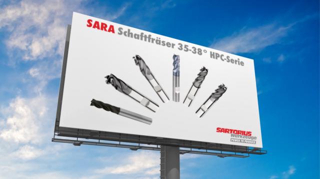 SARA Schaftfräser 35-38° HPC-Serie
