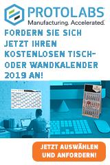 Sichern Sie sich Ihren Protolabs Wand- und Tischkalender 2019
