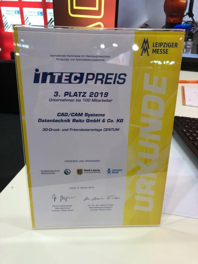 INTEC Preis 2019 für Datentechnik Reitz