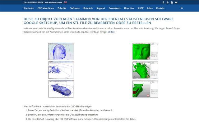 Kostenlose Downloads: .stl-Dateien und 3D-CAD Software