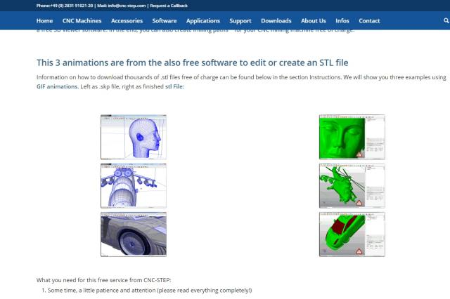 Free Downloads:  stl-files and 3D-CAD software