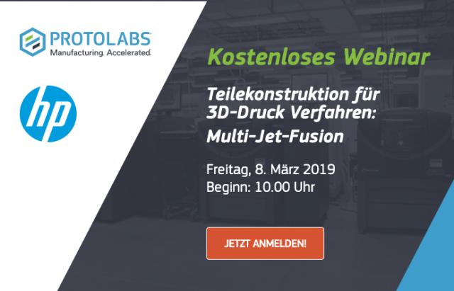 Kostenloses Webinar: Teilekonstruktion für 3D-Druck Verfahren: Multi-Jet-Fusion