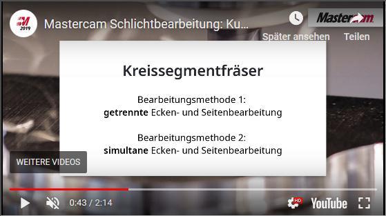 Neues Video: Kugel- vs. Kreissegmentfräser