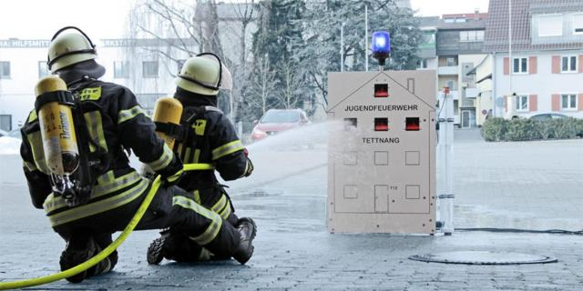 Spotted: ifm level sensor at the young firefighters Tettnang