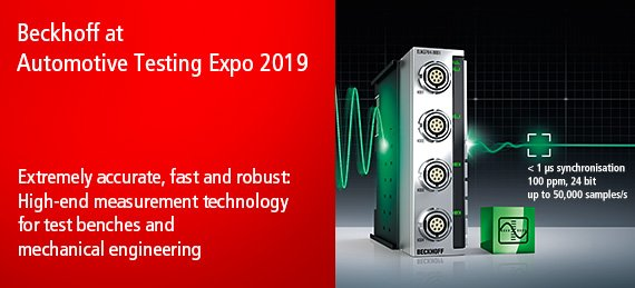 Beckhoff at Automotive Testing Expo 2019
