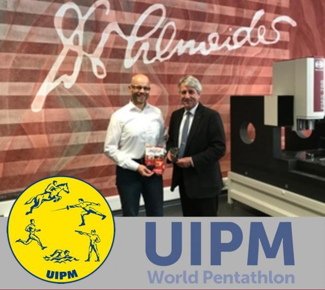 UIPM president Dr. Schormann visited Schneider Messtechnik in celebration of 10 years partnership