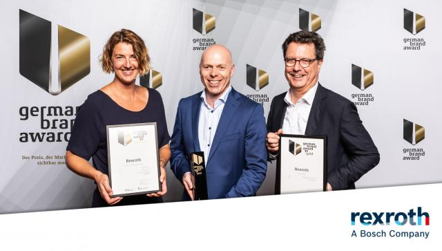 Gleich zweimal räumt Bosch Rexroth beim diesjährigen German Brand Award ab!