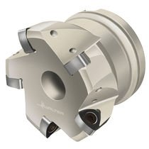 shell-end milling cutter / indexable insert / with negative insert / face