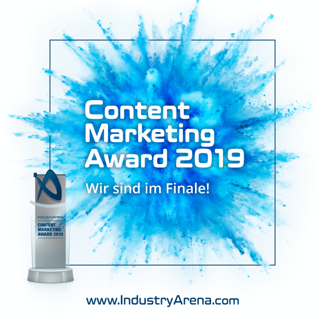 CHIRON ist im Finale des IndustryArena Content Marketing Awards 2019!