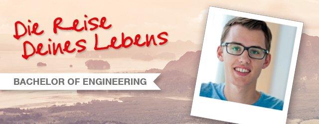 Die Reise Deines Lebens: Yannik, Bachelor of Engineering Maschinenbau