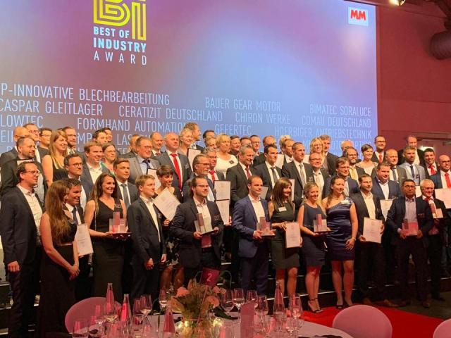 """Platz 2 beim """"Best of Industry Award"""" 2019"""