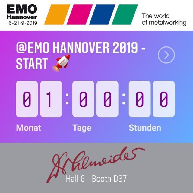 EMO 2019 - nur noch 1 Monat!