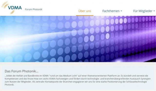 Forum Photonik: Neuer Internetauftritt auf der VDMA-Homepage