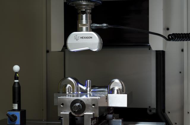 Hexagon präsentiert Komplettlösung für das Laserscannen in der Werkzeugmaschine