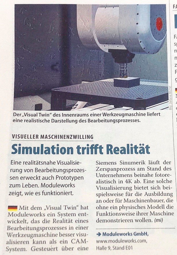 Simulation meets reality – ModuleWorks Visual Twin