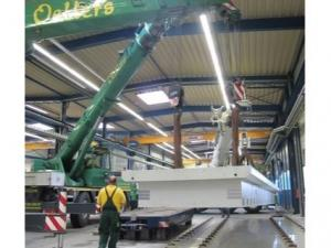 Machine beds for big tooling machines