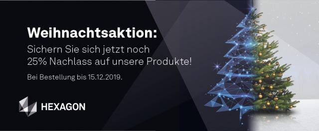 Weihnachtsaktion: 25% Nachlass auf unsere Produkte