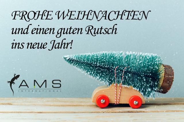 Frohes Fest und guten Rutsch wünscht AMS International