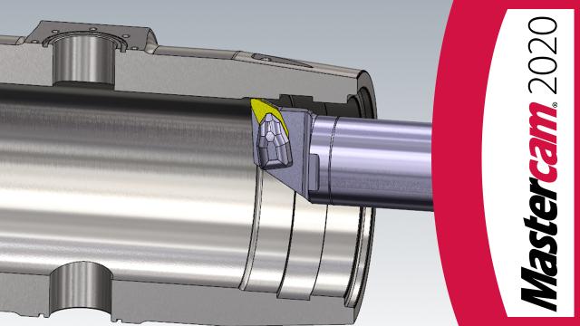 Einfacher Abtransport von Spänen – Innen-Prime Werkzeuge in Mastercam 2020!