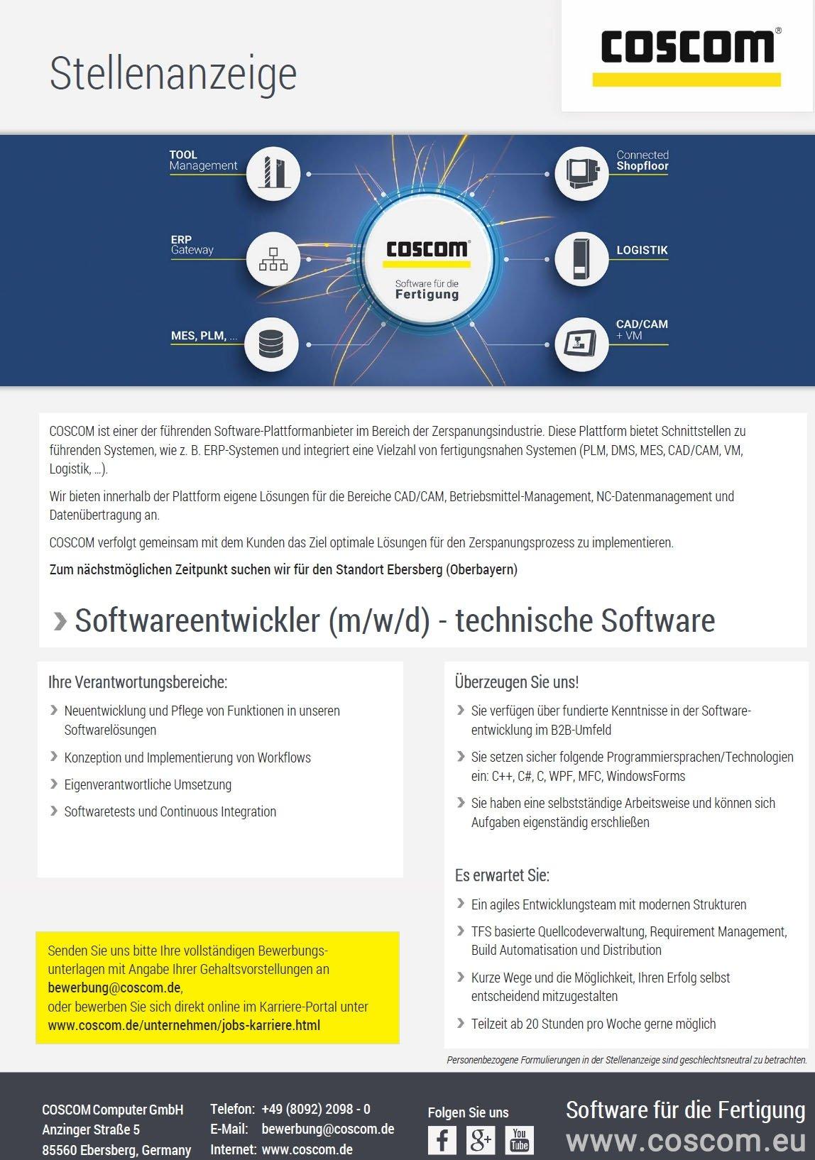 Softwareentwickler (m/w/d) - technische Software