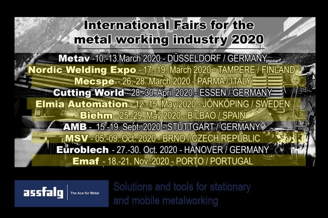 Assfalg Exhibition timetable for 2020