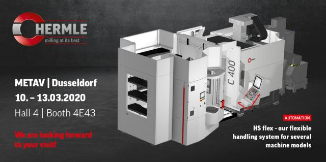 Flexible handling systems and lots of digital modules at the Hermle booth at METAV 2020
