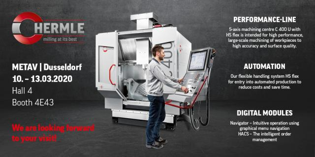 Flexible handling system and lots of digital modules at the Hermle booth at METAV 2020
