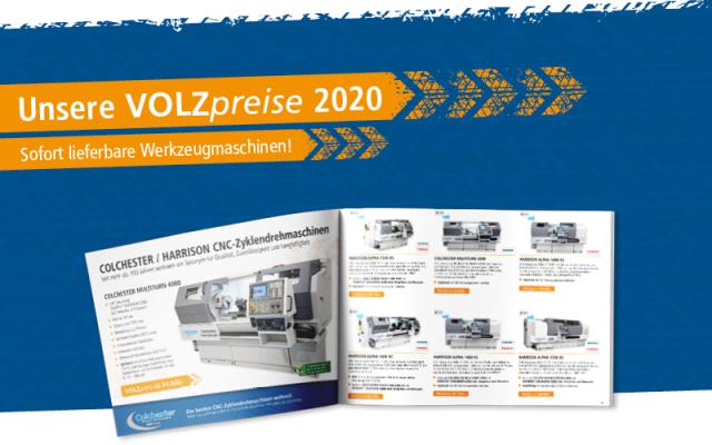 » VOLZpreise 2020 – sofort lieferbare Werkzeugmaschinen