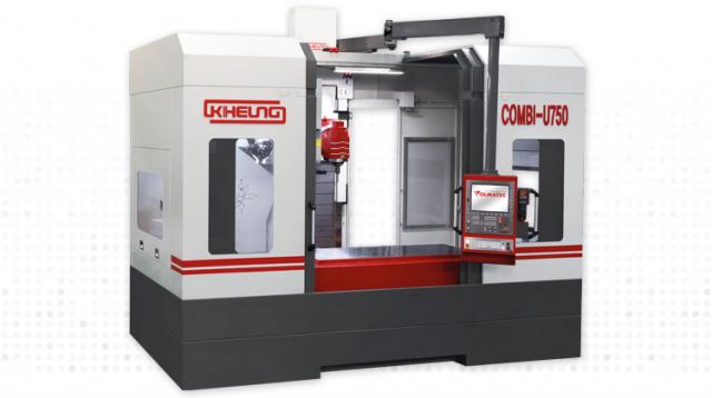 Kompaktes CNC-Bearbeitungszentrum mit Universal-Fräskopf - KIHEUNG COMBI U 750