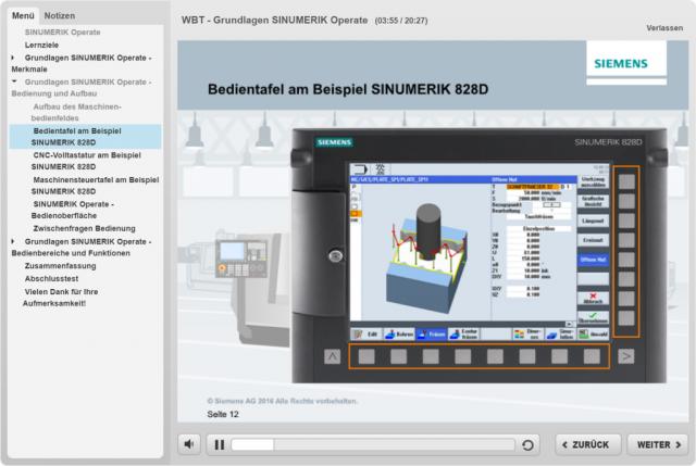 Jetzt online lernen: Webbased Trainings zu SINUMERIK Operate