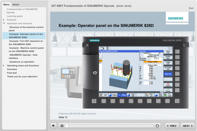 Learn online now: Web-based training on SINUMERIK Operate