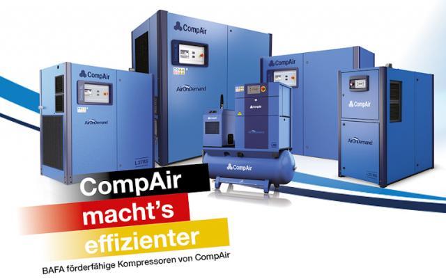 Jetzt BAFA-Förderung sichern - mit Kompressoren von CompAir