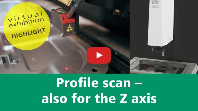 Virtual exhibition stand – PROFILE SCAN ALSO FOR Z AXIS
