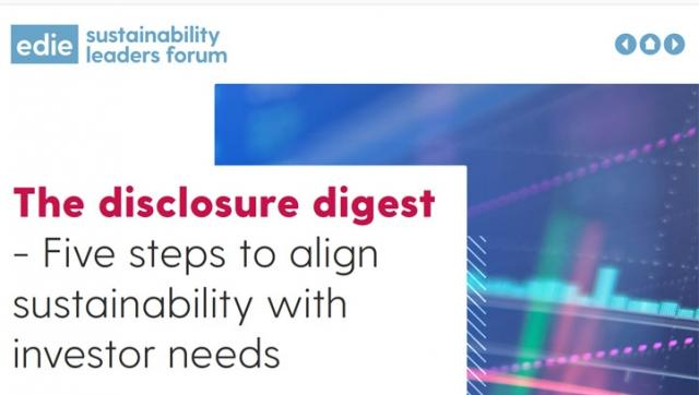Top tips on aligning sustainability with investor needs