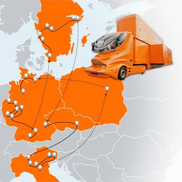 ifm roadshow – Taking the ifm truck across Europe