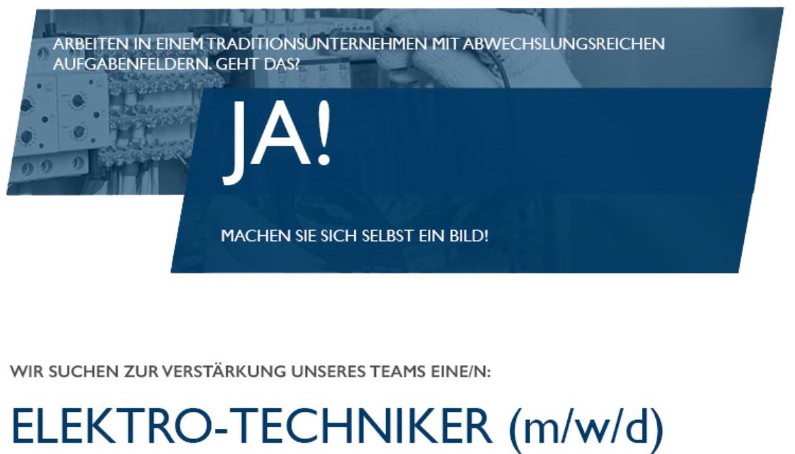 ELEKTRO-TECHNIKER (m/w/d)