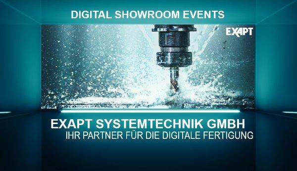 EXAPT Digital Showroom Events - Hybrid CAM-System - Digitaler Shopfloor
