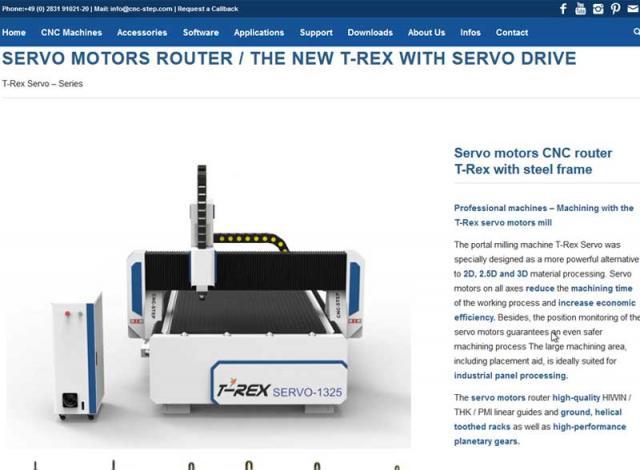 New website online: T-Rex Servo