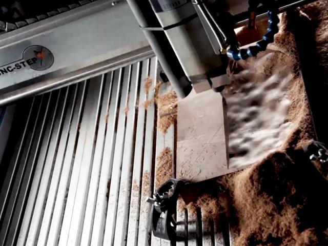 3D milling of walnut wood