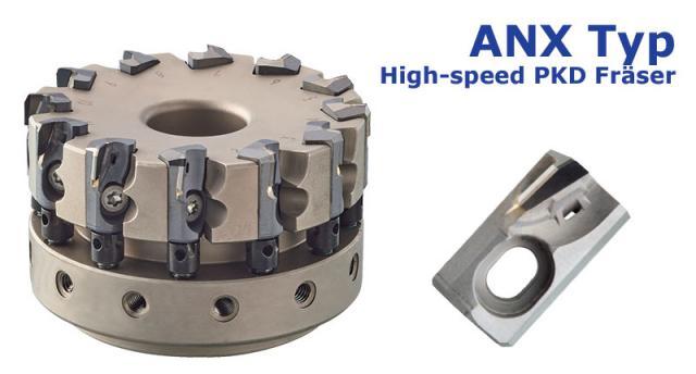 Hocheffizienter PKD Fräser ANX-Typ für Aluminiumlegierungen
